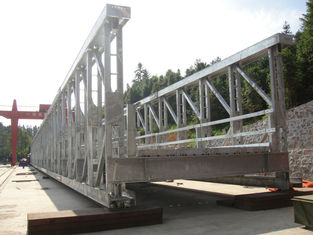 Prefabricated Modular Steel Bridge / Army Bailey Bridge High Strength