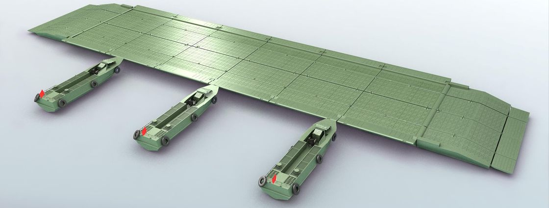 Self - Propelled Heavy Emergency Pontoon / Ribbon Pontoon / Military Pontoon Bridge